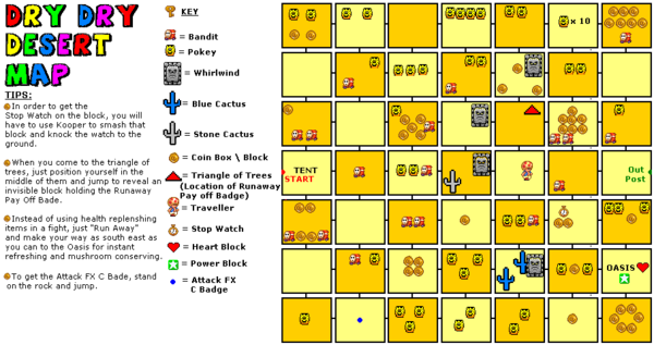 Paper Mario Dry Dry Desert Map Paper Mario/Chapter 2: The Mystery of Dry Dry Ruins — StrategyWiki