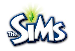 The logo for The Sims.