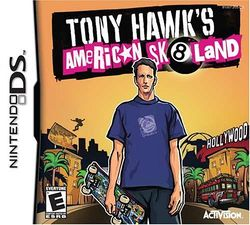 Box artwork for Tony Hawk's American Sk8land.