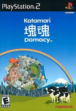 Box artwork for Katamari Damacy.