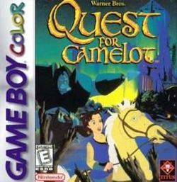 Box artwork for Quest for Camelot.