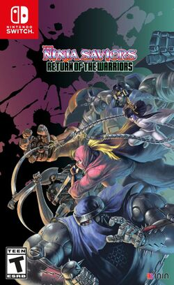Box artwork for The Ninja Saviors: Return of the Warriors.