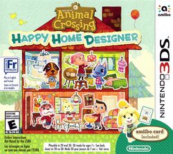 Box artwork for Animal Crossing: Happy Home Designer.