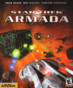 Box artwork for Star Trek: Armada.