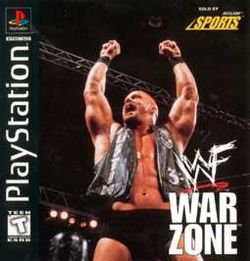 Box artwork for WWF War Zone.