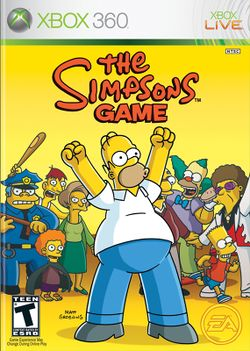 Box artwork for The Simpsons Game.