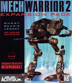 Box artwork for MechWarrior 2: Ghost Bear's Legacy.