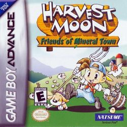 Box artwork for Harvest Moon: Friends of Mineral Town.