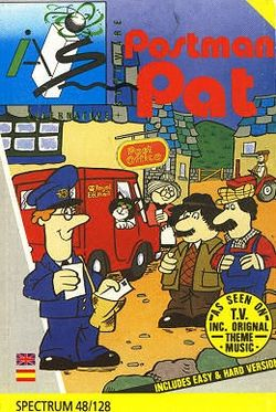Box artwork for Postman Pat: The Computer Game.
