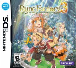 Box artwork for Rune Factory 3: A Fantasy Harvest Moon.