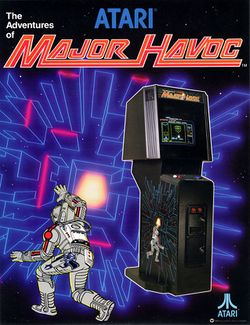 Box artwork for Major Havoc.