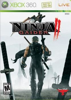Box artwork for Ninja Gaiden II.