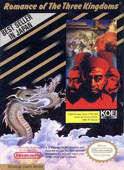 Box artwork for Romance of the Three Kingdoms.