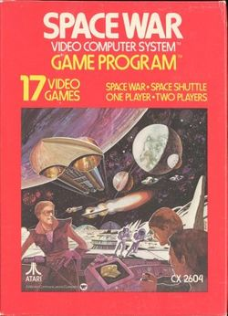 Box artwork for Space War.