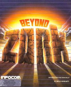 Box artwork for Beyond Zork.