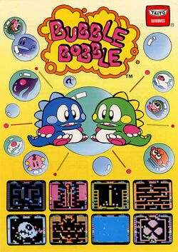 Box artwork for Bubble Bobble.