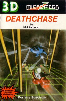Box artwork for 3D Deathchase.
