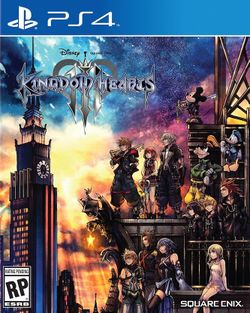 Box artwork for Kingdom Hearts III.