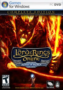 Box artwork for The Lord of the Rings Online: Mines of Moria.