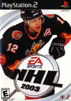 Box artwork for NHL 2003.