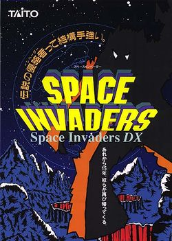Box artwork for Space Invaders DX.