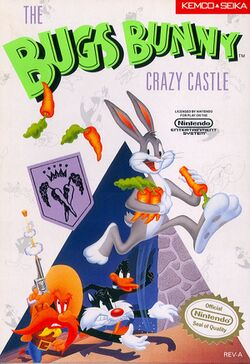 Box artwork for The Bugs Bunny Crazy Castle.