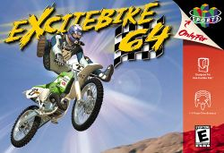 Box artwork for Excitebike 64.