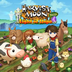 Box artwork for Harvest Moon: Light of Hope.