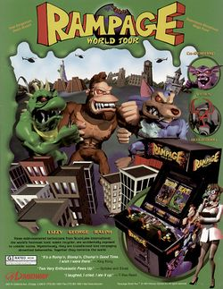 Box artwork for Rampage: World Tour.