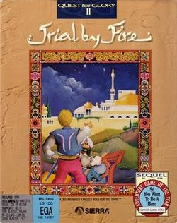 Box artwork for Quest for Glory II: Trial by Fire.