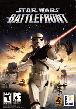 Box artwork for Star Wars: Battlefront.
