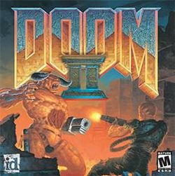 Box artwork for Doom II: Hell on Earth.