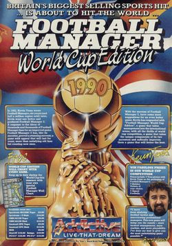 Box artwork for Football Manager: World Cup Edition.