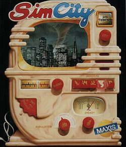 Box artwork for SimCity.