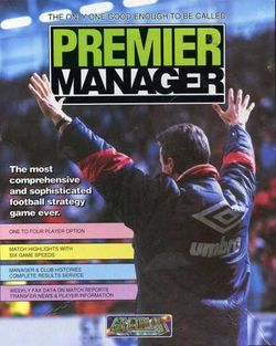 Box artwork for Premier Manager.