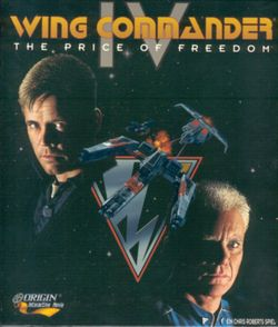 Box artwork for Wing Commander IV: The Price of Freedom.