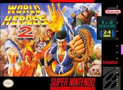 Box artwork for World Heroes 2.