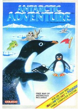 Box artwork for Antarctic Adventure.