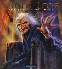 Box artwork for Lands of Lore: The Throne of Chaos.