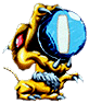 Ice Beam artwork from Metroid II: Return of Samus