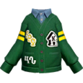 S Gear Clothing Green Cardigan.png