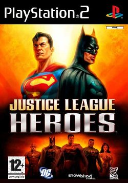 Box artwork for Justice League Heroes.