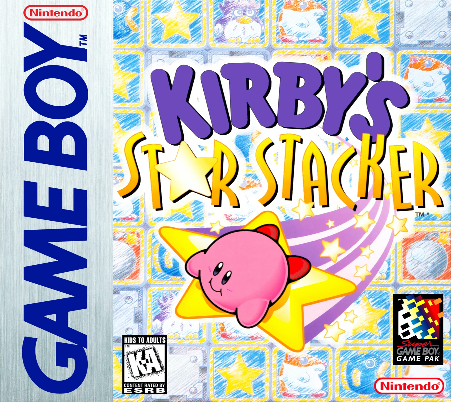 Box artwork for Kirby's Star Stacker.