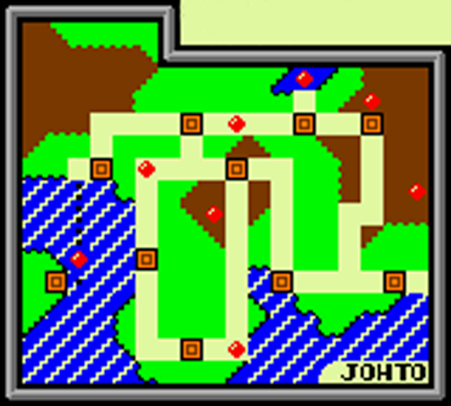 Map of Johto