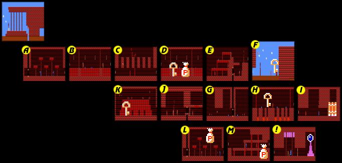 Zelda  Island Palace Map