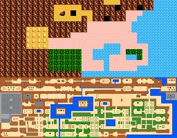 Zelda 2 Nes Map