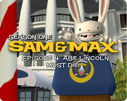 Box artwork for Sam & Max Episode 104: Abe Lincoln Must Die!.