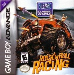 Box artwork for Rock N' Roll Racing.