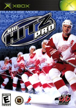 Box artwork for NHL Hitz Pro.