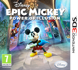 Box artwork for Epic Mickey: Power of Illusion.
